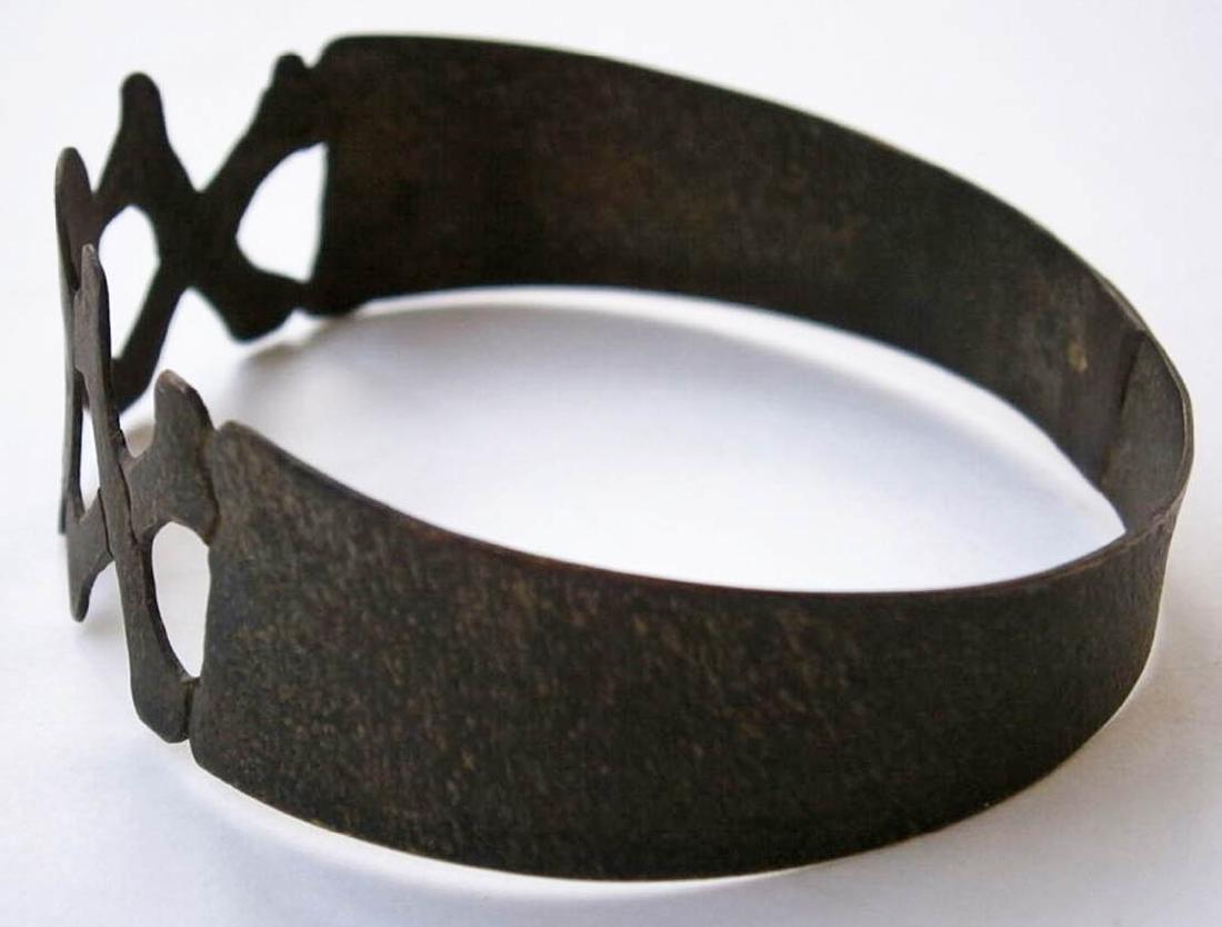 Original German WW2 Bracelet w. SKULL & Double BONEs - 4