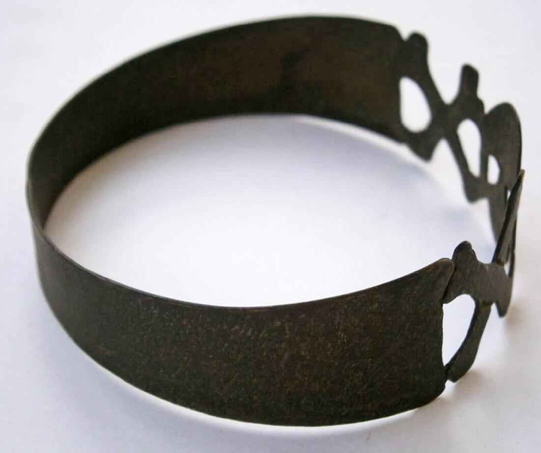 Original German WW2 Bracelet w. SKULL & Double BONEs - 6