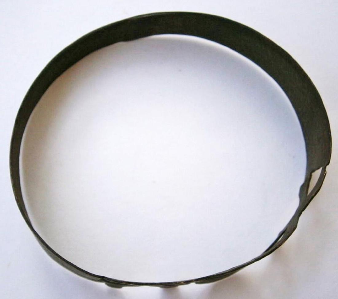 Original German WW2 Bracelet w. SKULL & Double BONEs - 7