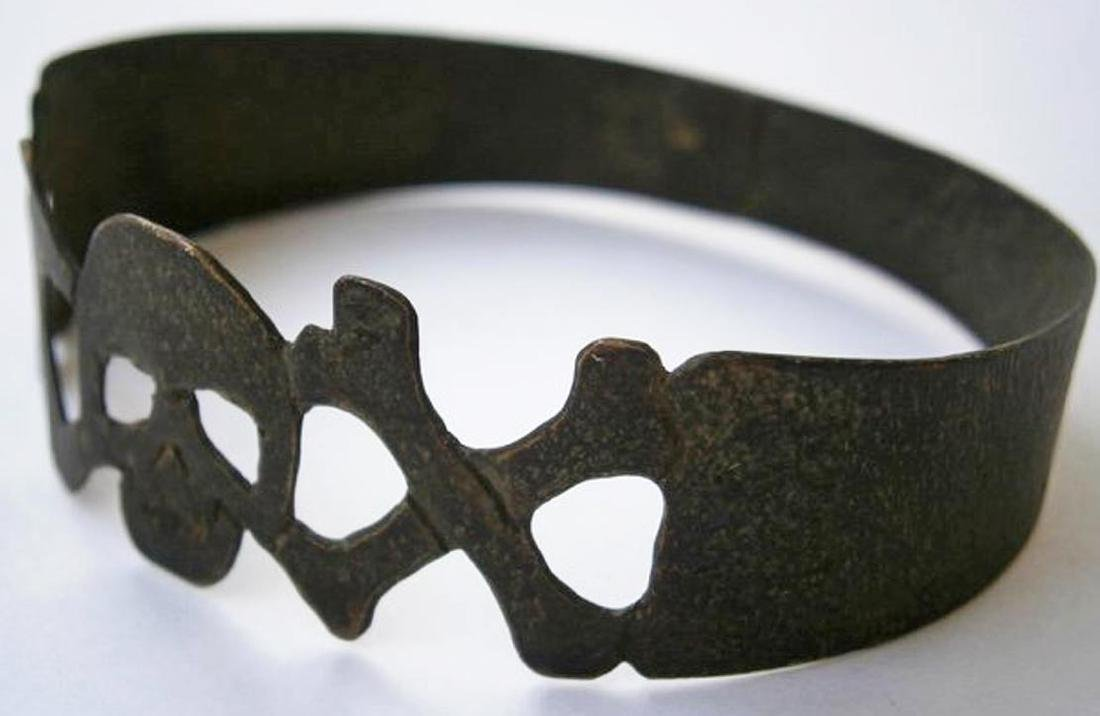 Original German WW2 Bracelet w. SKULL & Double BONEs - 8