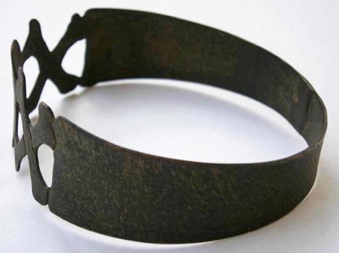 Original German WW2 Bracelet w. SKULL & Double BONEs - 9