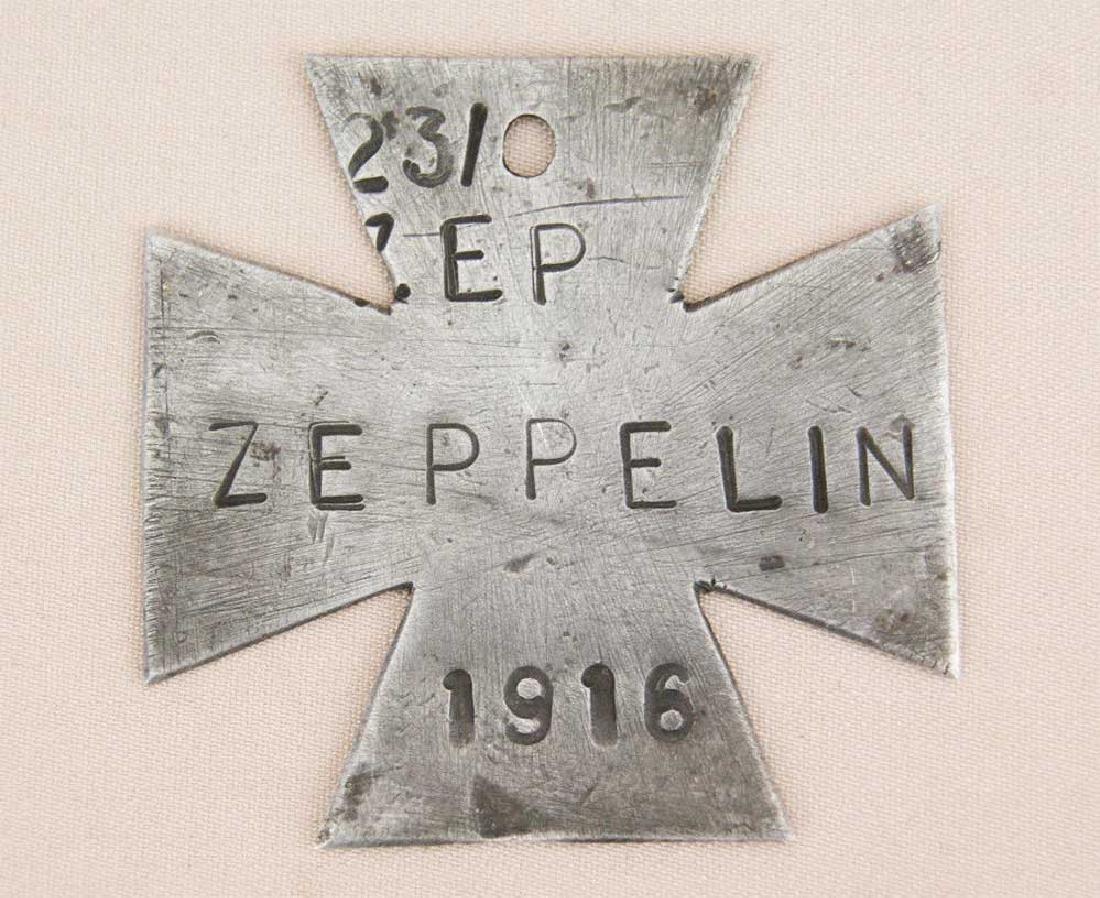 German WW1 Cross ZEPPELIN L23, Trench Art 1916