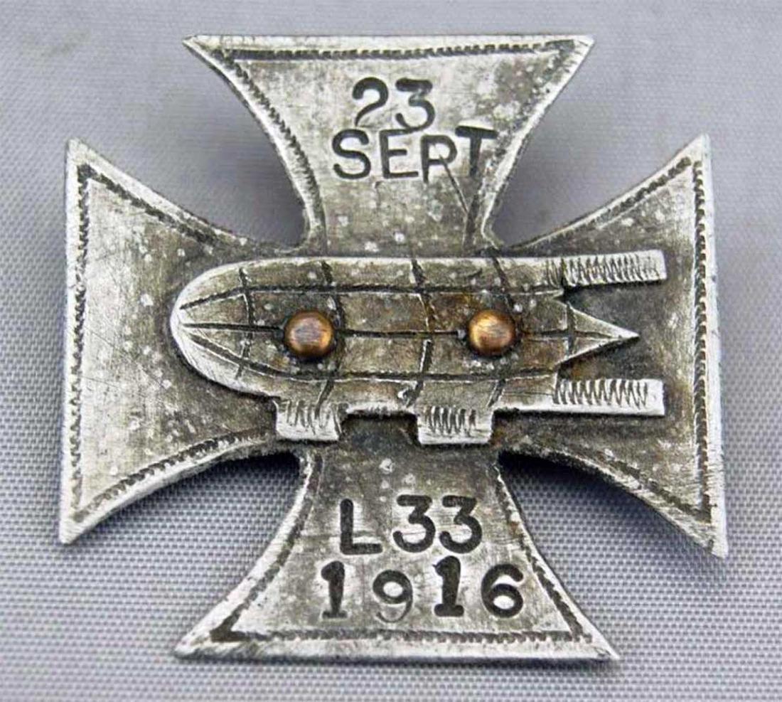 German WW1 Cross Badge ZEPPELIN L33, 1916