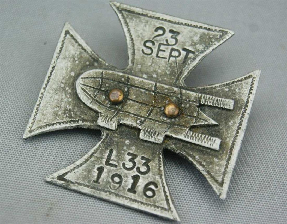 German WW1 Cross Badge ZEPPELIN L33, 1916 - 2