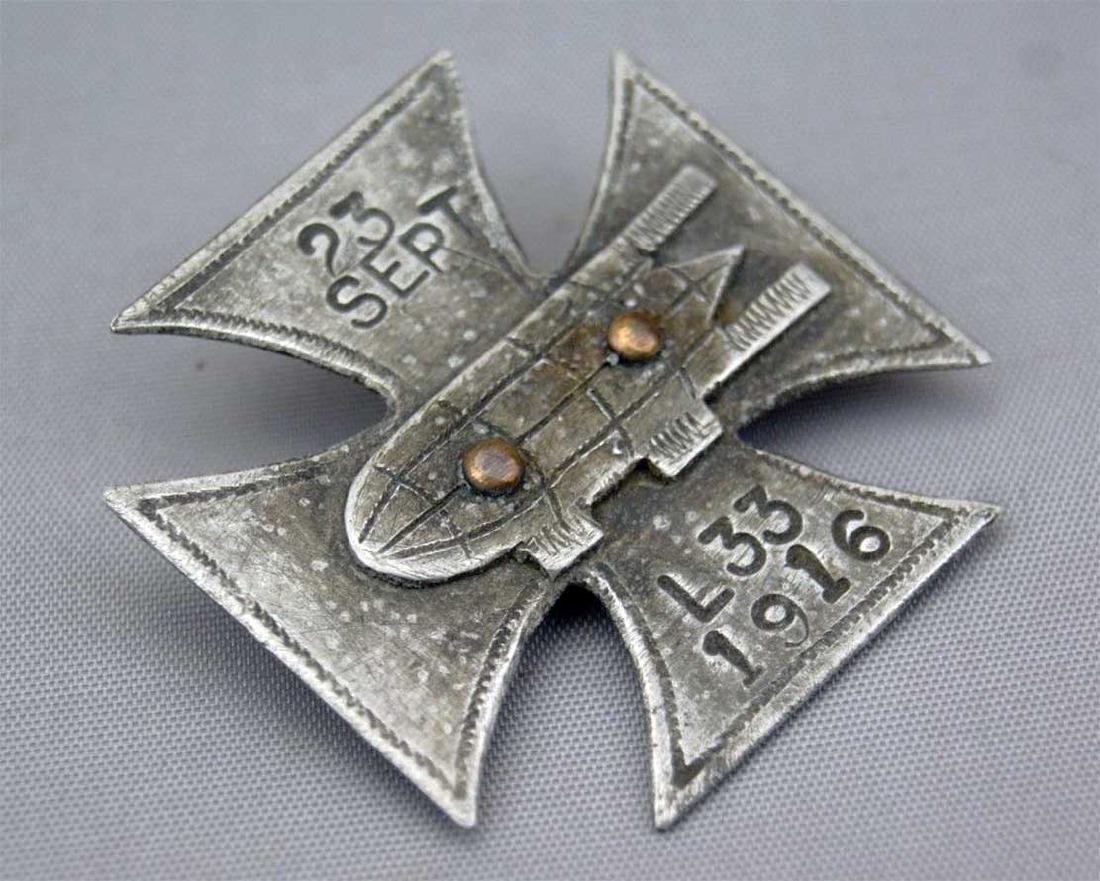 German WW1 Cross Badge ZEPPELIN L33, 1916 - 3