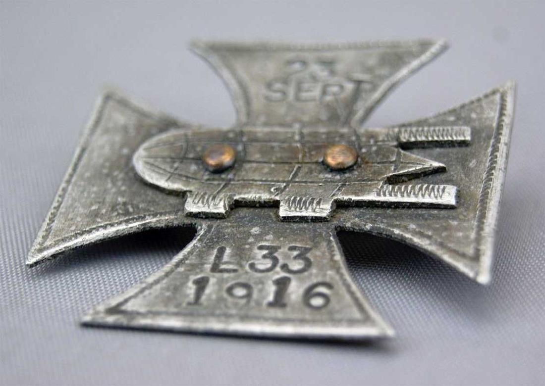 German WW1 Cross Badge ZEPPELIN L33, 1916 - 4