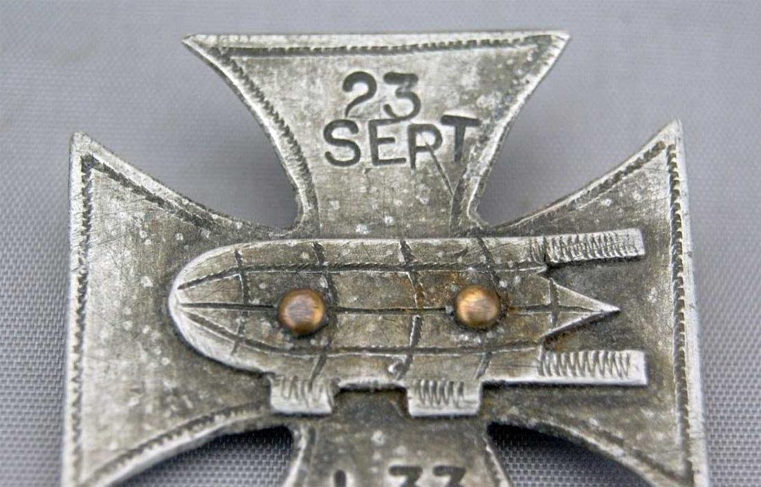 German WW1 Cross Badge ZEPPELIN L33, 1916 - 5