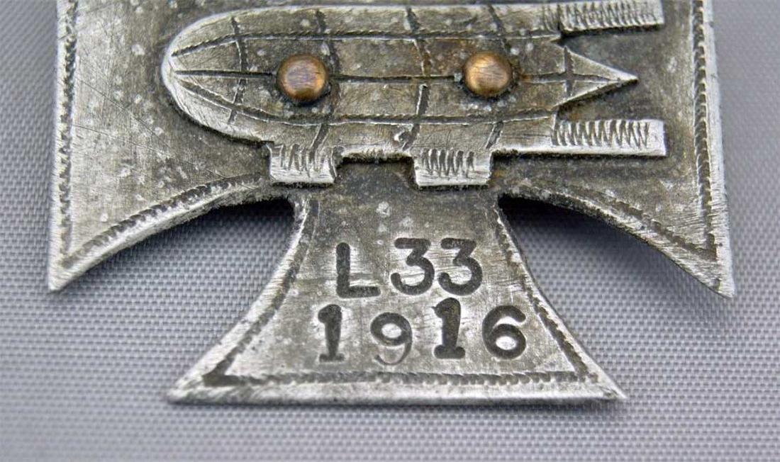 German WW1 Cross Badge ZEPPELIN L33, 1916 - 6