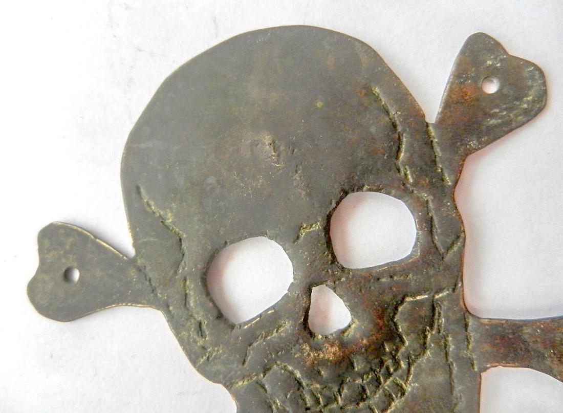 Original German WW2 Skull & Bones f. Helmet M35 or M42 - 4