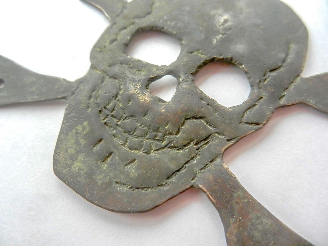 Original German WW2 Skull & Bones f. Helmet M35 or M42 - 6