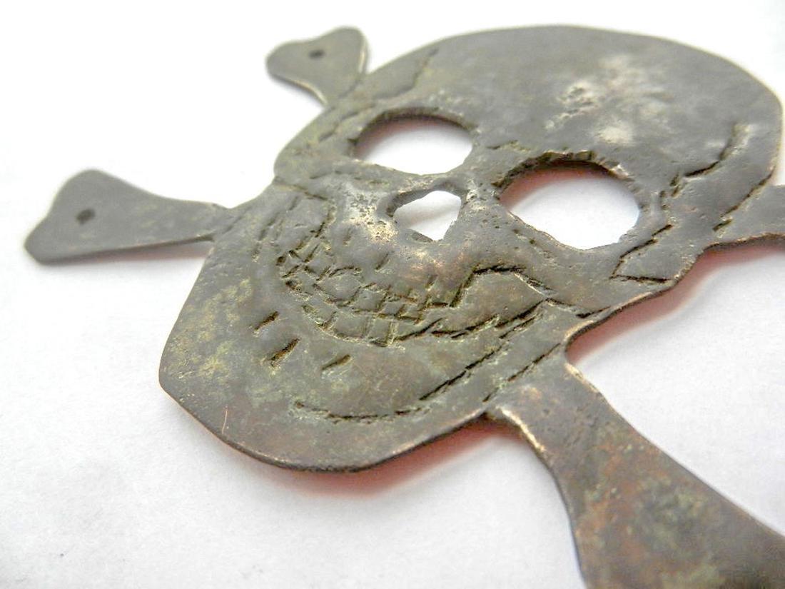 Original German WW2 Skull & Bones f. Helmet M35 or M42 - 7