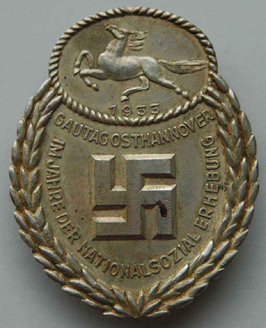 German WW2 Gau Honor Badge East Hannover, 1933