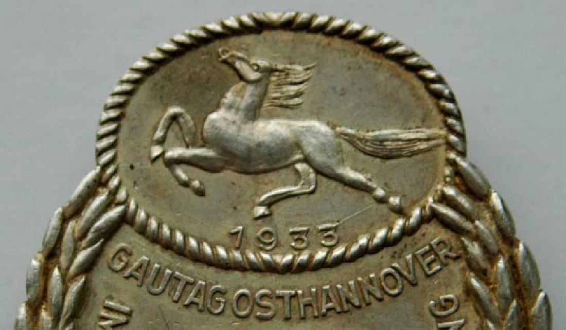 German WW2 Gau Honor Badge East Hannover, 1933 - 2