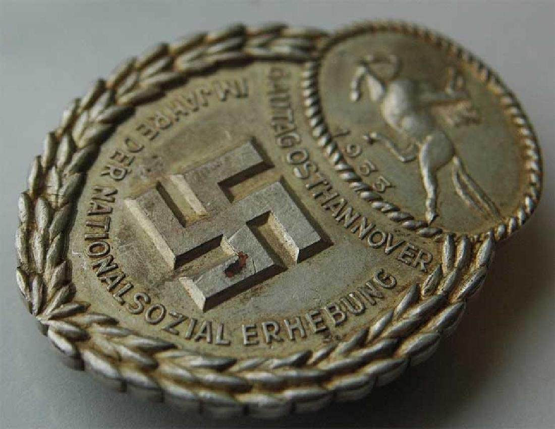 German WW2 Gau Honor Badge East Hannover, 1933 - 3