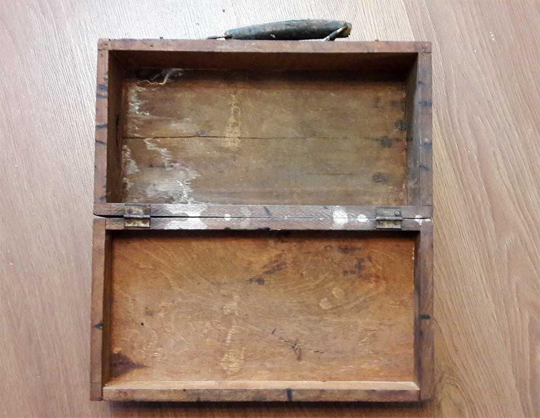 Original Jewish WW2 Doctor's Suitcase w. Star of David - 8