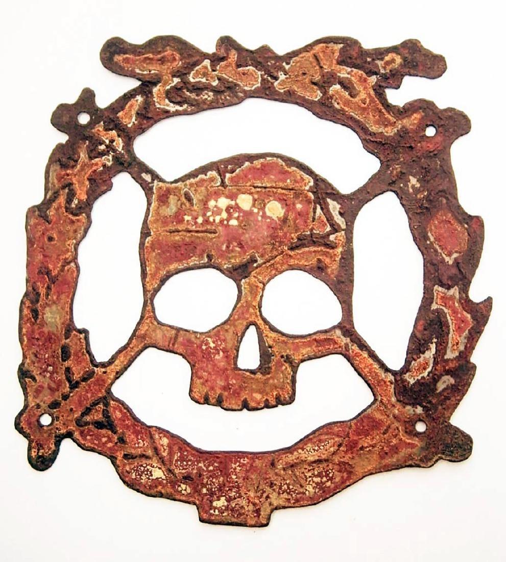 German WW2 Cocarde w. Skull & Bones f. Helmet M35 or