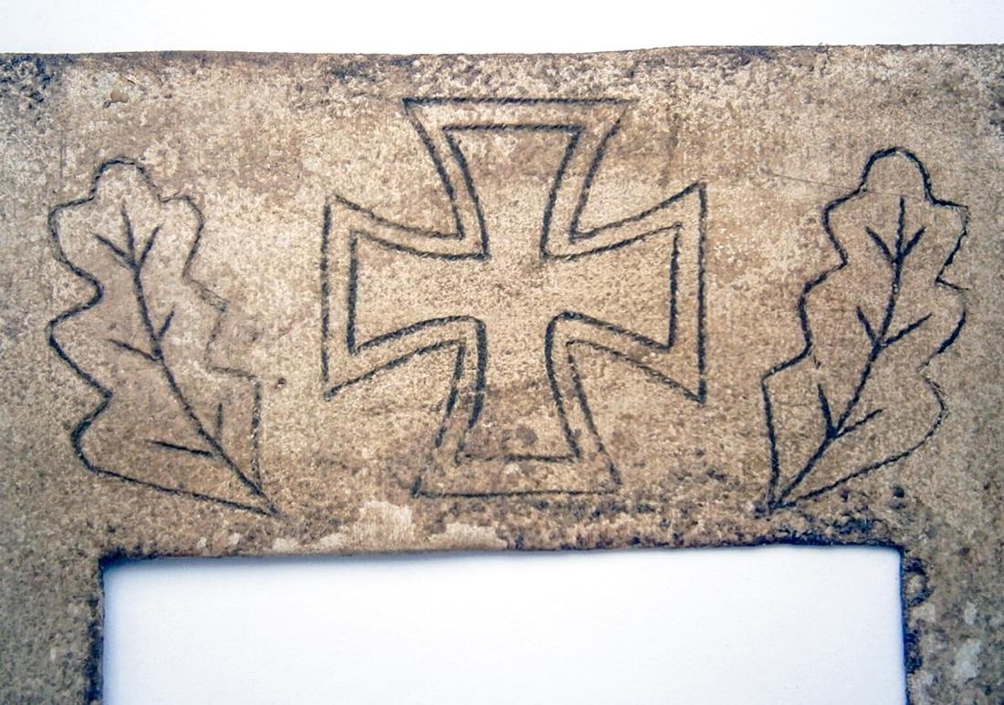 German WW2 Photo Frame w. Iron Cross and date, 1942 - 5