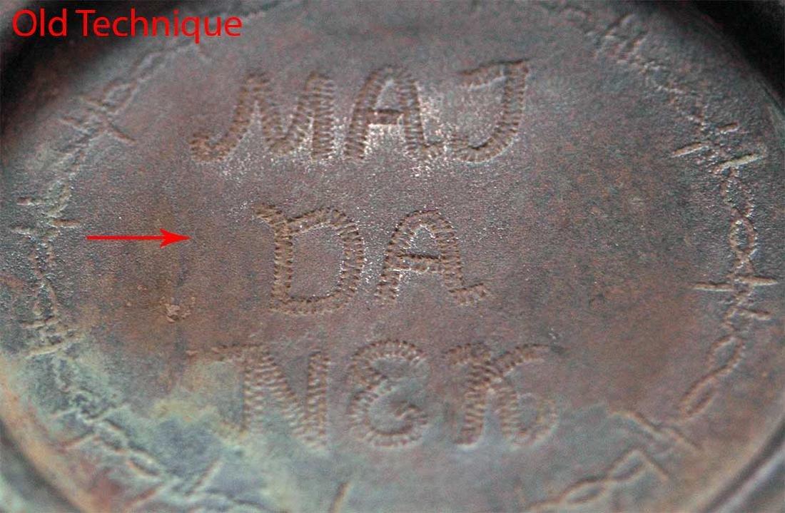German WW2 Plate MAJDANEK w. Wire Barb, 1941-1944 - 5
