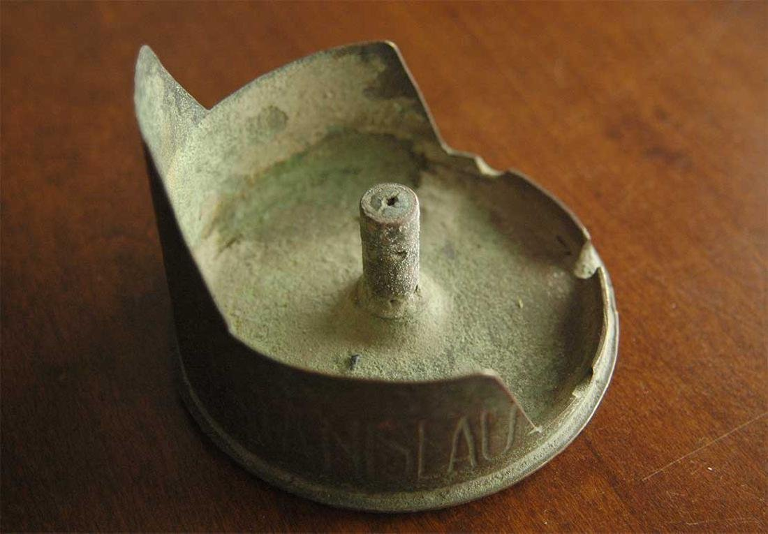 Original German WW1 Ashtray w. Iron Cross, Cartridge