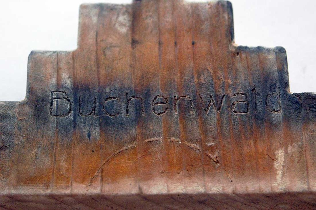 Original Jewish WW2 Menorah w. Hebrew, BUCHENWALD - 4