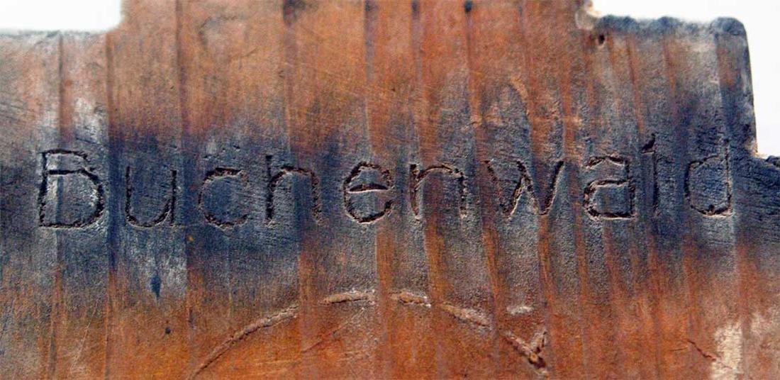Original Jewish WW2 Menorah w. Hebrew, BUCHENWALD - 5