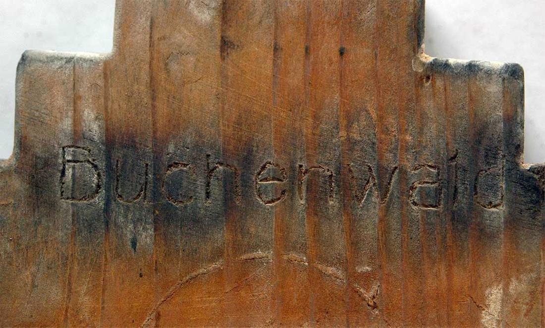 Original Jewish WW2 Menorah w. Hebrew, BUCHENWALD - 6
