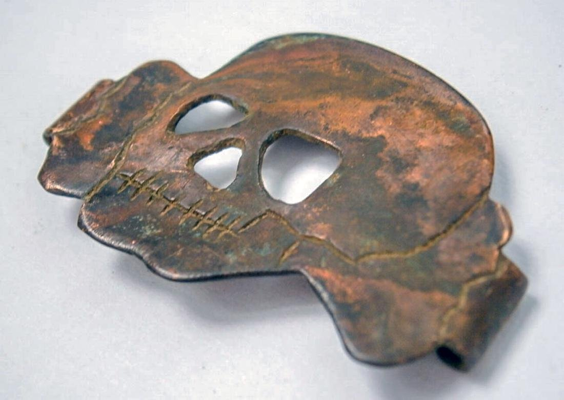 German WW2 Cocarde BADGE w. SKULL & BONEs, Trench Art - 3