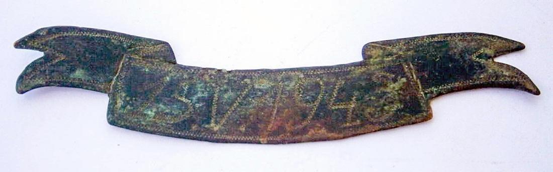 Original German WW2 Ribbon w. Date, SOLDIERs Trench ART
