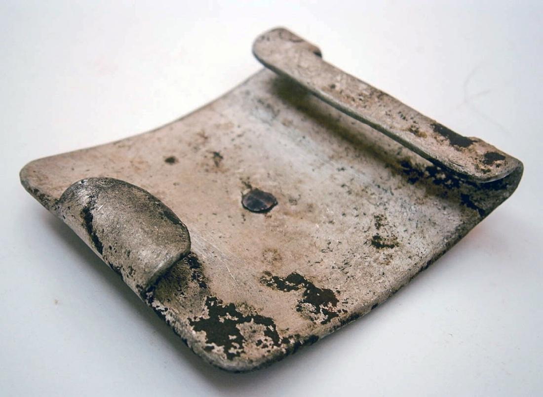 German WW2 Belt Buckle w. Iron Cross, Trench Art - 9