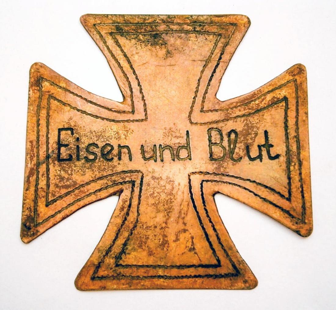 German WW2 Iron Cross Eisen und Blut, Trench Art
