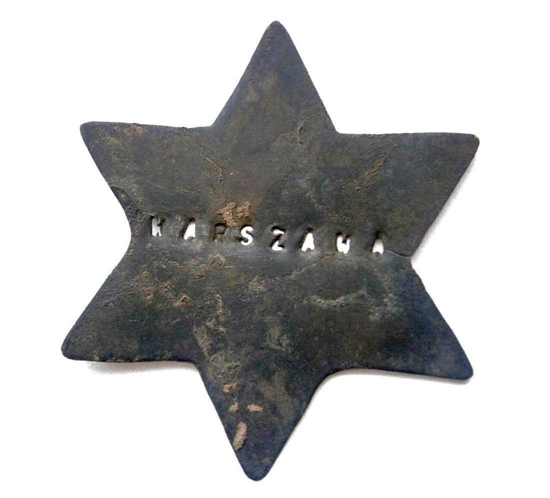 Original Jewish WW2 Star of David, WARSZAWA Judaica