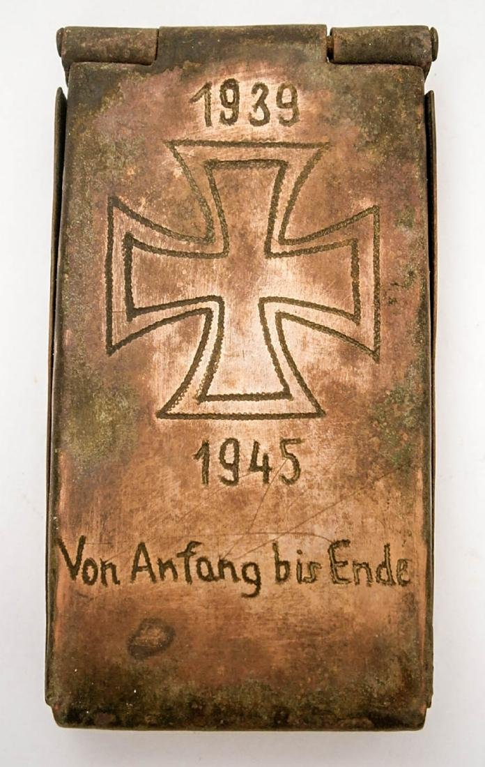 Original German WW2 Cigarette Case, Von Anfang bis Ende