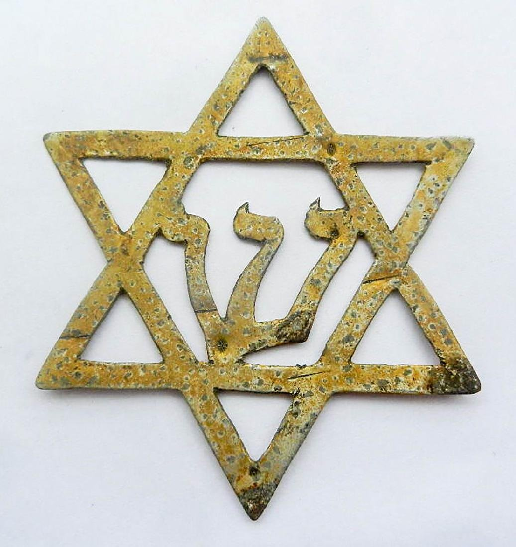 Jewish WW2 STAR of DAVID fr. Litzmannstadt, JUDAISM