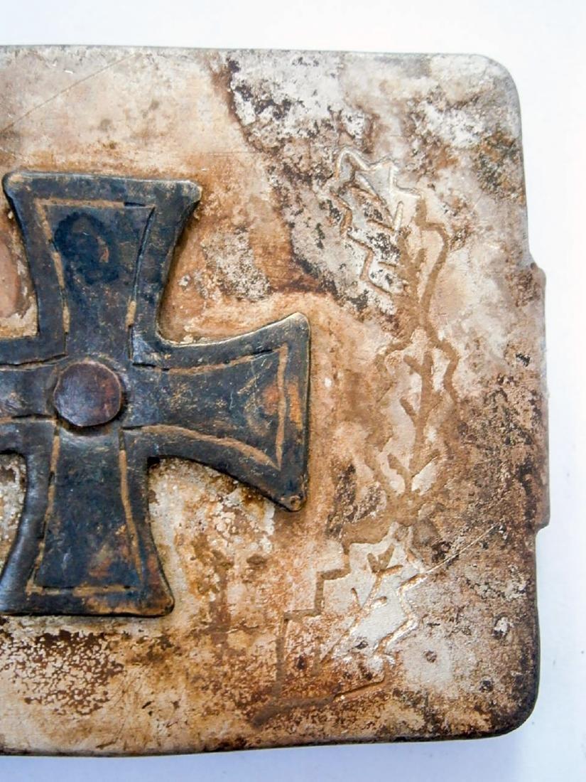 German WW2 Belt Buckle w. Iron Cross & OAK Leaves - 6