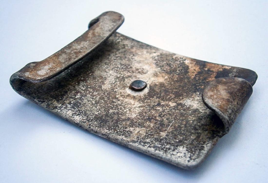 German WW2 Belt Buckle w. Iron Cross & OAK Leaves - 7