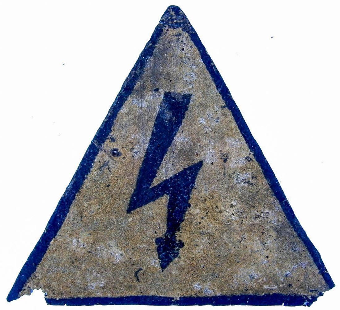 Original German WW2 Iron SIGN Electric DANGER