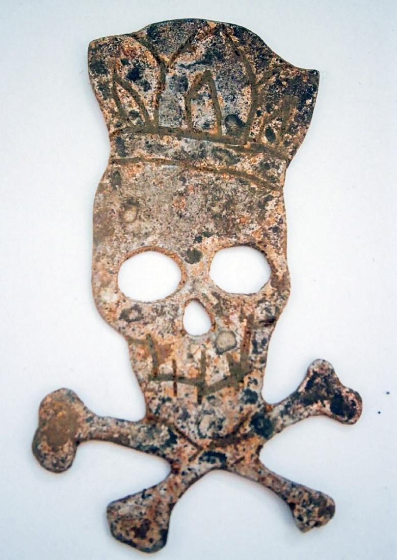 Original German WW2 Cocarde w. Skull & Bones
