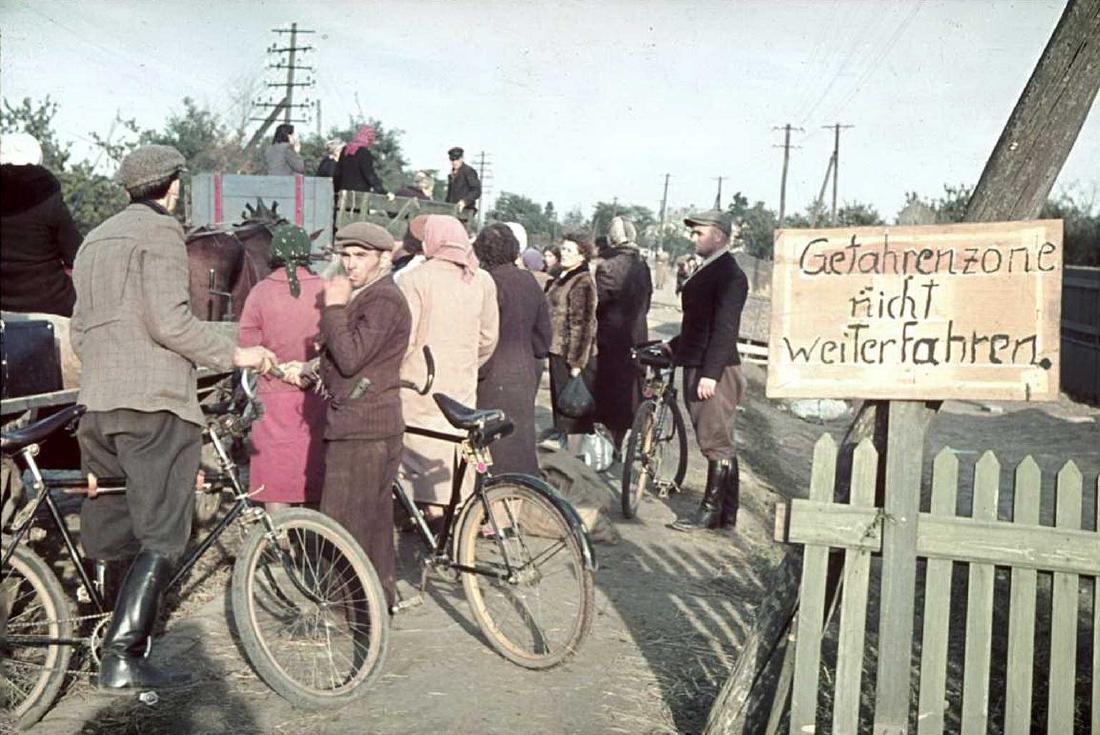 Original German WW2 Sign Stop Entry Day & Night - 10