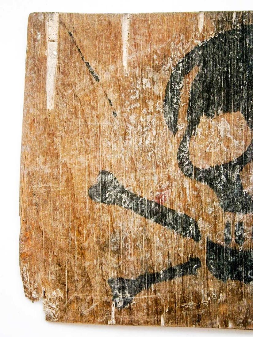 Original German WW2 Stop Sign w. Skull & Bones - 6