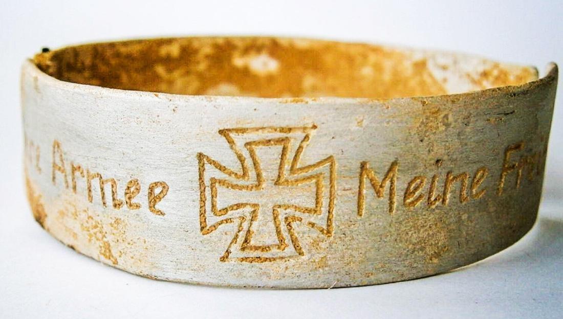 Original German WW2 Bracelet w. Iron Cross, Meine Armee