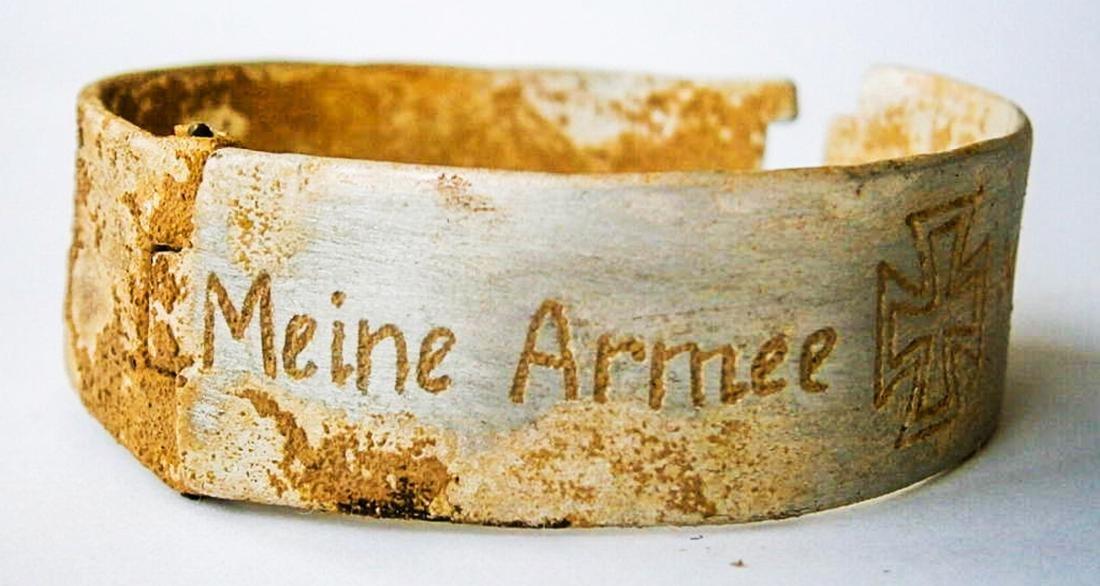 Original German WW2 Bracelet w. Iron Cross, Meine Armee - 2