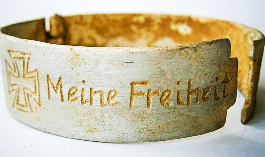 Original German WW2 Bracelet w. Iron Cross, Meine Armee - 3