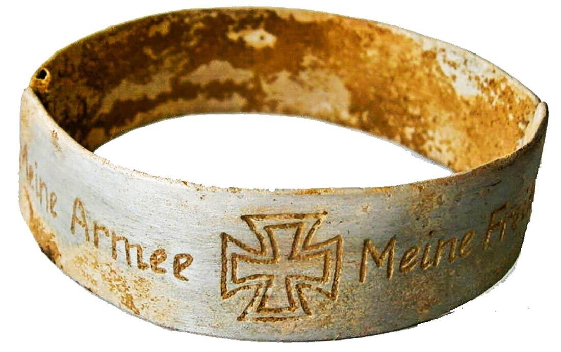 Original German WW2 Bracelet w. Iron Cross, Meine Armee - 4