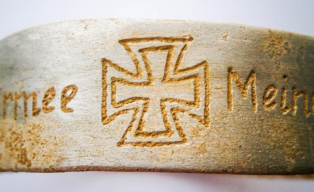 Original German WW2 Bracelet w. Iron Cross, Meine Armee - 7