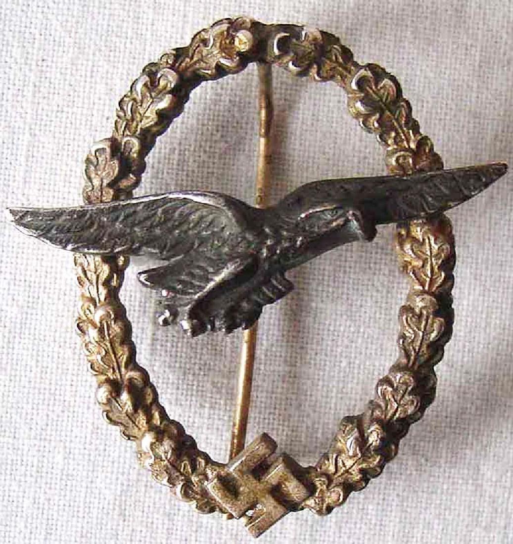 Rare German WW2 Luftwaffe Glider Badge