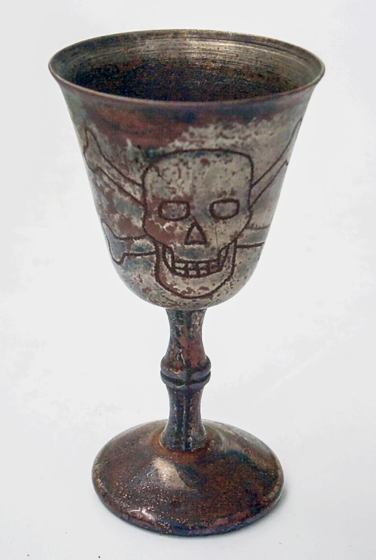 Original German WW2 Wine CUP w. Skull & Bones