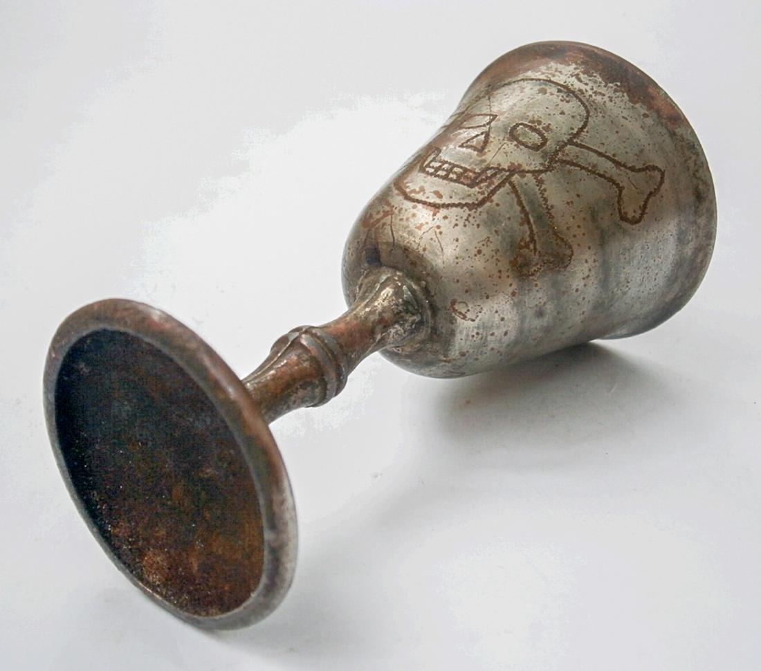 Original German WW2 Wine CUP w. Skull & Bones - 2