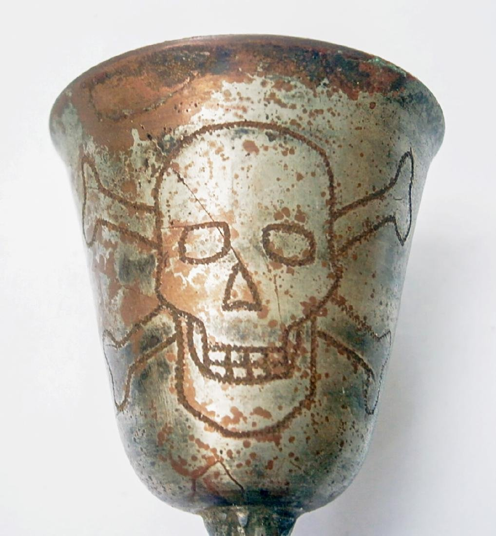Original German WW2 Wine CUP w. Skull & Bones - 6