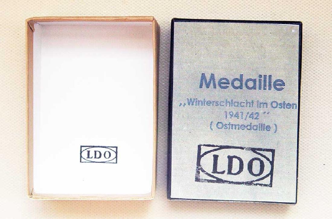 German WW2 LDO Box, OSTMEDAILLE