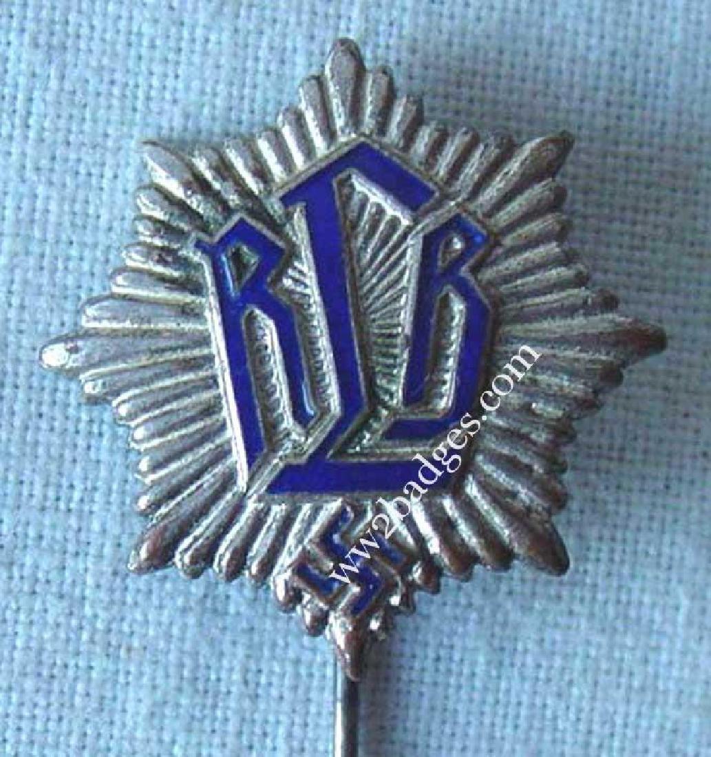 German WW2 RLB Reichsluftschutzbund Pin